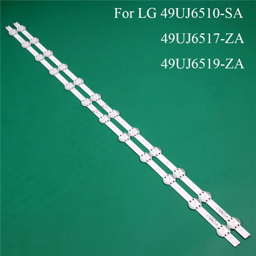 LED TV Illumination Part Replacement For LG 49UJ6510-SA 49UJ6517-ZA 49UJ6519-ZA LED Bar Backlight Strip Line Ruler V1749L1 2862A
