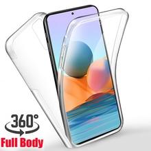 Coque 360 avant et arrière souple pour Xiaomi, compatible modèles Redmi Note 10 Pro, Note 10 Max, 10S, Mi 10 T Pro, 5G, 10 T Lite