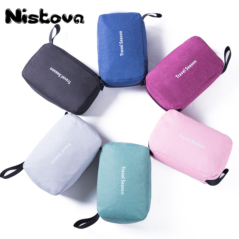 Colourful Hanging Folding Cosmetic Bag Travel Waterproof Wash Makeup Pouch Toiletry Bag Organizer Women Make Up Cases Suitcases