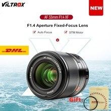 Viltrox 33mm f1.4 stm foco automático lente de foco fixo para fujifilm fuji x-montagem X-T3 X-H1 x20 X-T30 X-T20 X-T10 câmera presente mcuv