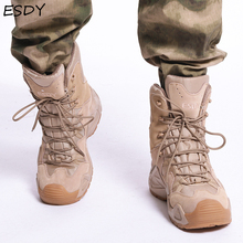 Esdy Winter Boots Men Shoes Military Boots Special Force Tactical Desert Combat Ankle Boots Men Army Work Shoes Leather Boots military tactical boots desert combat outdoor army hiking travel botas shoes leather autumn ankle men boots winter boots