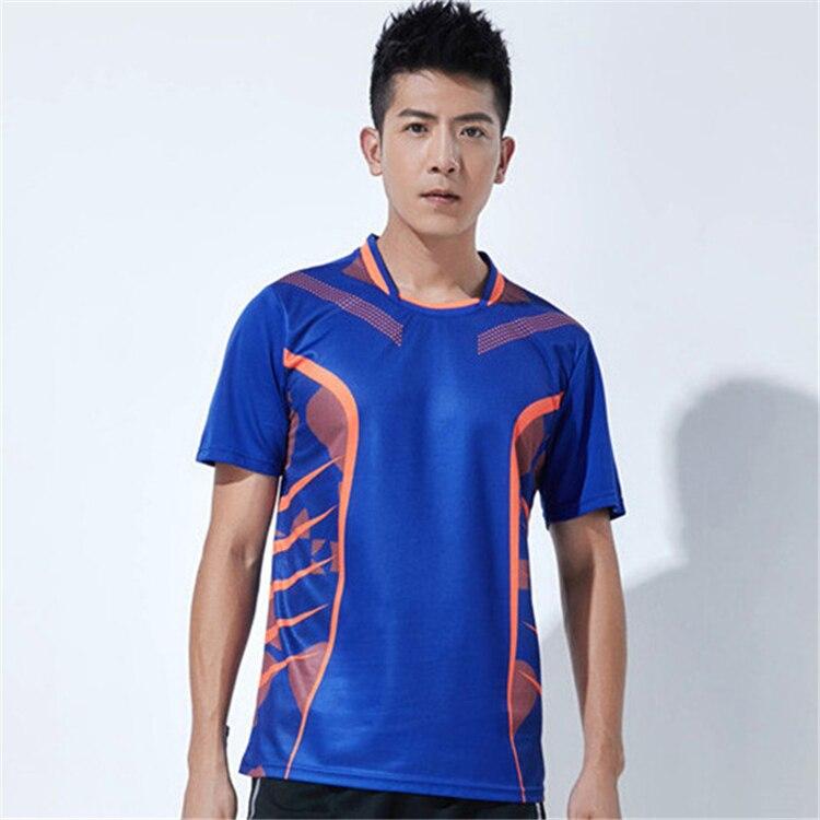 Быстросохнущая, впитывающая пот и дышащая рубашка для бадминтона, топ для соревнований, тренировочный костюм для бега, мужской и женский короткий рукав - Цвет: 1809Amale2