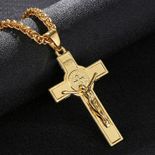 Cross Necklace INRI Crucifix Jesus pendant necklace Gold/Silver color Men&women Jewelry  Religion Necklace Bijoux Femme infinity beaded crucifix pendant layered necklace
