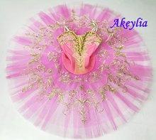 Темно розовая балетная пачка для профессиональных девочек yagp