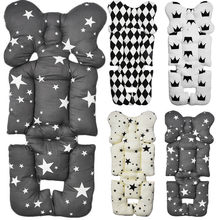 3D Air Mesh Cotton Soft Seat Pad Liner Baby Stroller Seat Breathable For Stroller Car Grey/White Newborn Pushchairs Accessories(China)