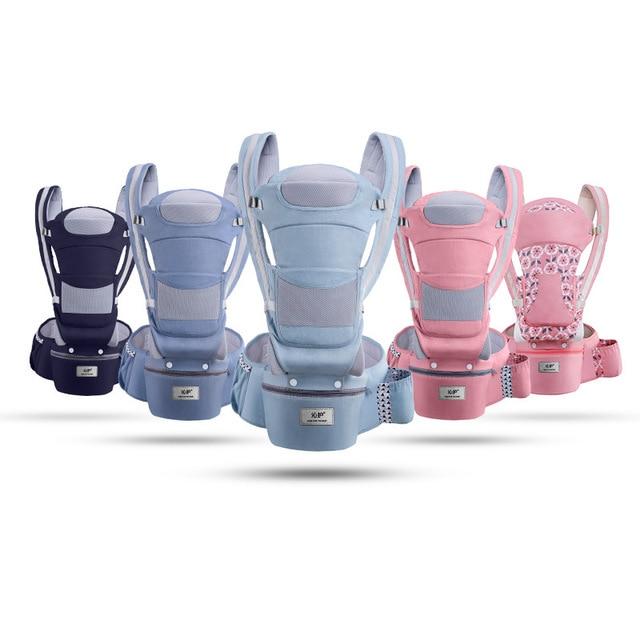 Portabebés ergonómico, cojín para bebé, asiento delantero, canguro, cabestrillo para bebé, para viaje, portabebés multifunción, 0-48M
