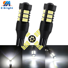 цена на 2pcs 12V T15 Canbus 4014 54 SMD Led Bulb NO ERROR Turn Parking Door Signal Light Side Maker Lamp Indicator Light Auto Car 8000K