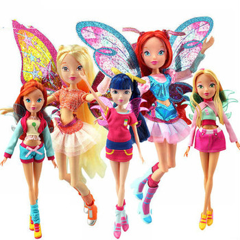 Believix Fairy&Lovix Fairy Rainbow Colorful Girl Doll Action Figures Fairy Bloom Dolls with Classic Toys for Girl Gift 1