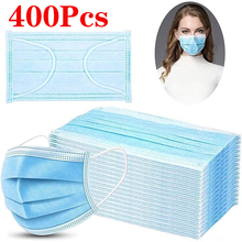 400 / 200pcs Fast Transportation Anti-pollution Safety Dust Mask Disposable Protection 3-layer Non-woven Unisex Mask