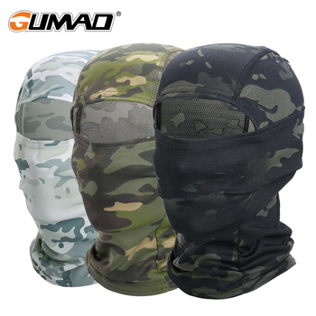 Camouflage balaclava teljes arcú sál kerékpározáshoz, vadászathoz, hadsereghez, katonai sisak béléshez taktikai airsoft sapka