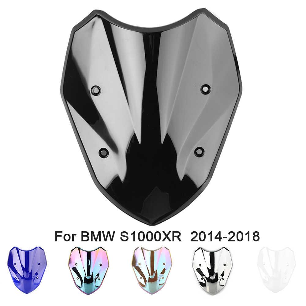 Motor Kaca Depan Iridium Kaca Hitam Dengan Baut Sekrup Mur Pengunci Untuk BMW S1000XR 2014 2015 2016 2017 2018