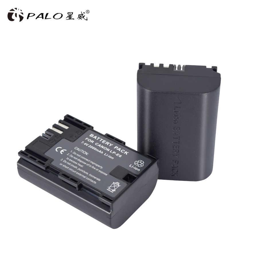 LP-E6 LP E6 LPE6 2000 мАч батарейный блок камеры для Mark II Mark III для цифровой однообъективной зеркальной камеры Canon EOS 5D 6D 7D 60D 60Da 70D 80D DSLR