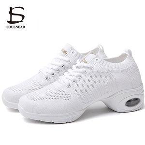 Image 2 - Womens Dance Shoes  Jazz Dancing Shoes For Woman Summer Mesh Modern Dance Shoes Ladies Female Sport Feature Dance Sneaker 34 41