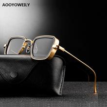 2021 New Vintage Steampunk Sunglasses Men Women Retro Metal Square Men #8217 s Sun Glasses Male Trendy Brand Shades For Men UV400 cheap AOOYOWEILY CN(Origin) Adult Alloy NONE MIRROR Anti-reflective 43mm Men s Women s Alloy Driver s Sunglasses For Man 58157