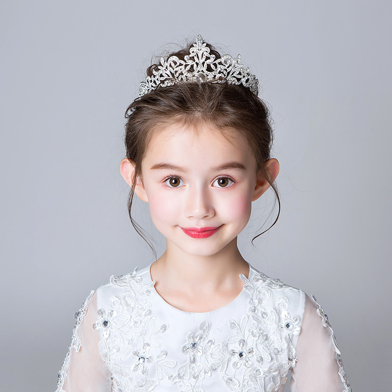 Children Crown Hair Ornament Baby Accessories Princess Barrettes Hair Bands GIRL'S Headband Performance Accessories Girls Headdr