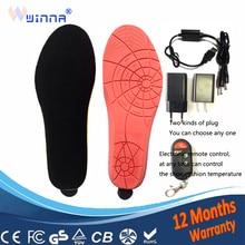 Новинка; стельки с подогревом с электрическим питанием от USB; стельки для походов и лыж; женская обувь; стельки для ботинок; сохраняющие тепло ноги; европейские размеры 40-45