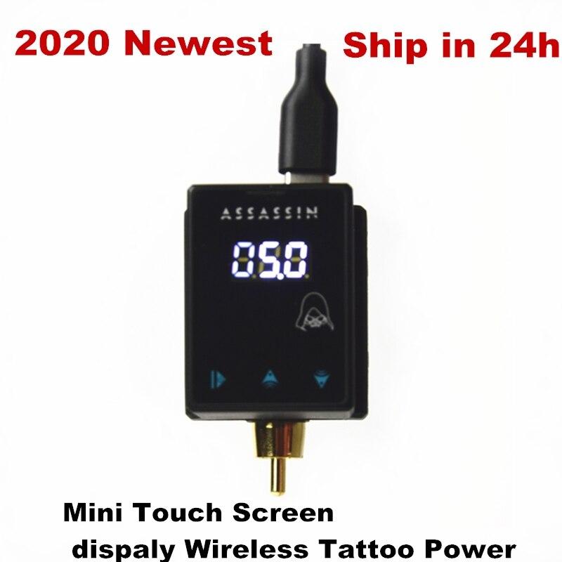 2020 mais novo mini tela de toque display sem fio carregamento energia rca para máquina tatuagem frete grátis rápido
