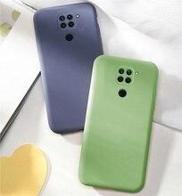 Candy Case For Xiaomi Redmi Note 9 Case Solid Color Liquid Phone Case For Redmi Note 9 9S 8T 8 9 Pro 10X Cover For Redmi Note 9 недорого