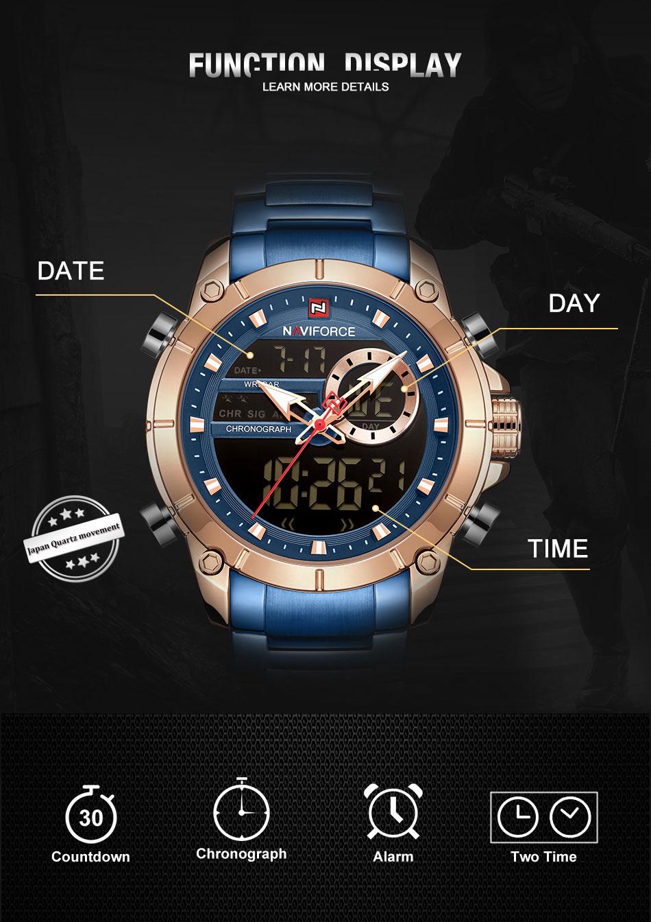 NAVIFORCE NF 9163 Mens Watch 6