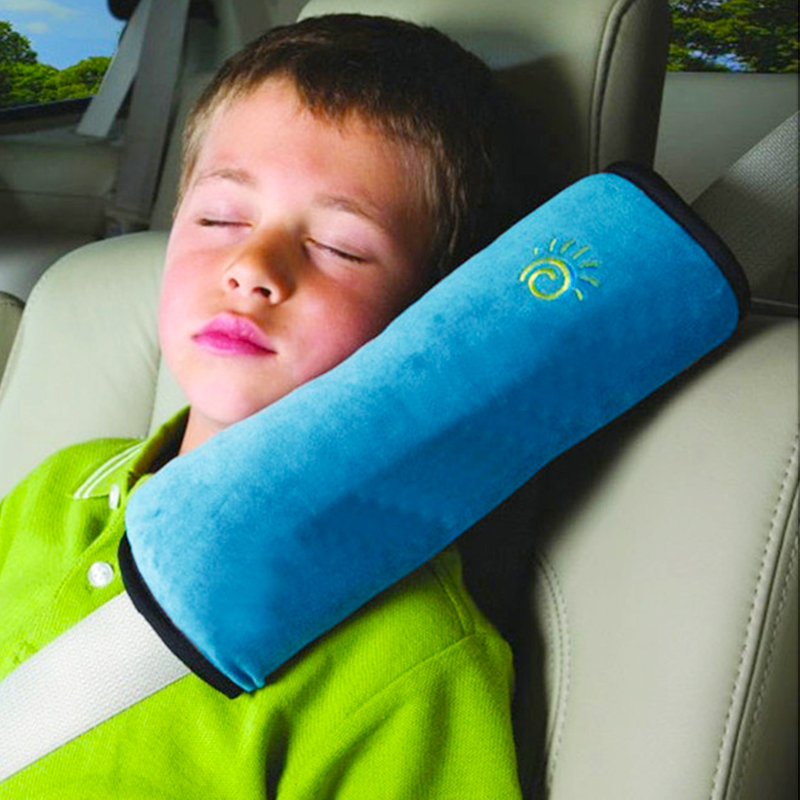 2pcs Car Safety Seat Belt Cover Plush Auto Seat Shoulder Pad Cushion Fox Shape