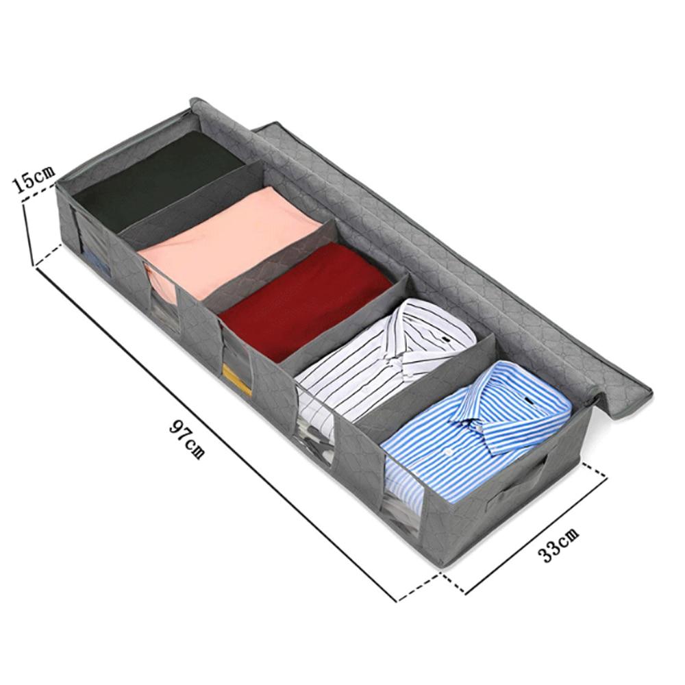 Складной ящик для хранения грязной одежды для сбора чехол из нетканого материала на молнии влагостойкие игрушки стеганая коробка для хранения - Цвет: G252564B