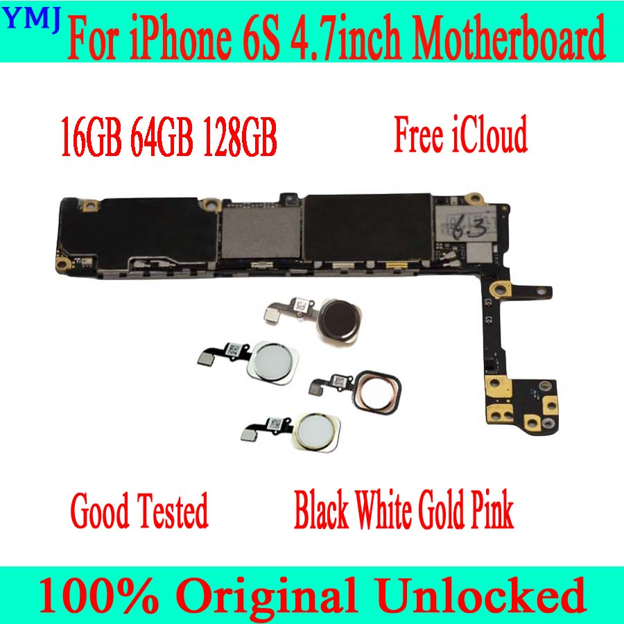 <font><b>16GB</b></font> 64GB 128GB With Touch ID for <font><b>iphone</b></font> <font><b>6S</b></font> <font><b>Motherboard</b></font> with Free iCloud,Original unlocked for <font><b>iphone</b></font> <font><b>6S</b></font> Mainboard image