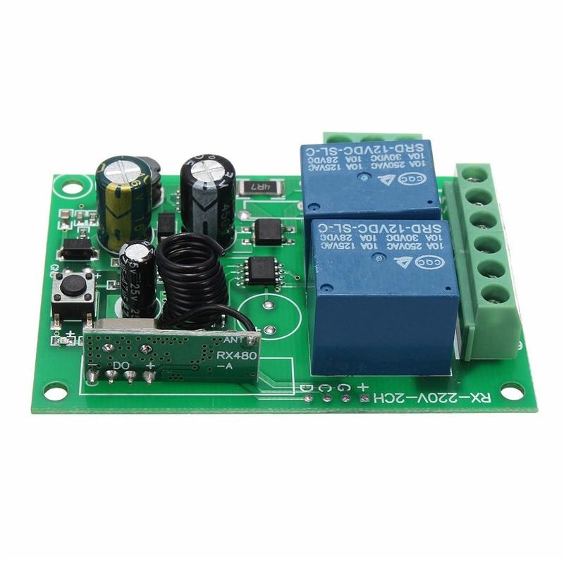 Умный дом DC 12V 220V 10A 315/433 МГц 2 канала Беспроводной реле РЧ пульт дистанционного управления Управление переключатель Супергетеродинный прием...