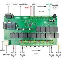 16 + 8 canales de nivel Industrial Hogar inteligente automatización Ethernet/WiFi módulo controlador relé Control remoto interruptor Domotica Casa Hogar
