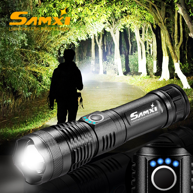 2020 XHP70.2 High Power Rechargeable Led Flashlight Zoomable Tactical Flashlight 18650/26650 Battery USB Torch Lantern