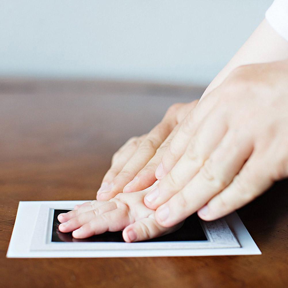 Nicht-toxischen Tinte Pad Übereinstimmung mit Ergonomisches Design Komfort Praktische Tintenlosen Wischen Baby Hand Fuß Druck Maker Andenken
