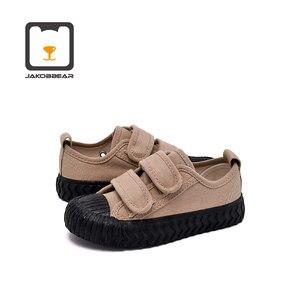 Image 2 - Детские парусиновые кроссовки JAKOBBEAR, повседневная обувь для девочек и мальчиков, садовые кроссовки