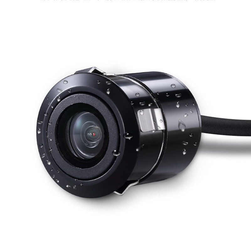 18. 5mm Hole Rearview Camera High-definition Night Vision Embedded Cassette On Board Camera Waterproof Rear View Color