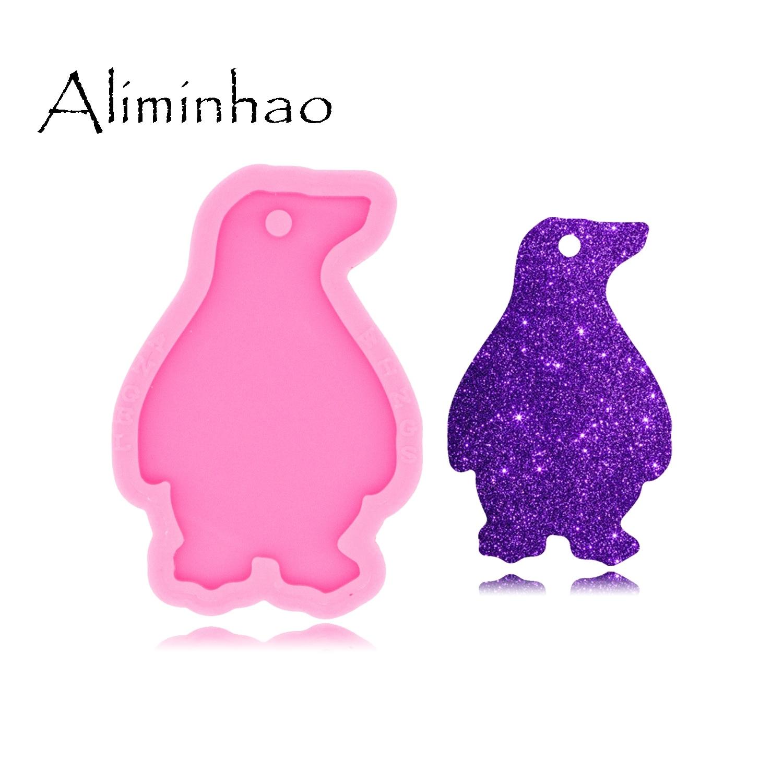 Mega Sale 3dbd Dy0513 Shiny Glossy Penguin Keychain Mould