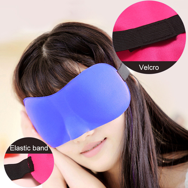 3D Sleep Mask Natural Sleeping Eye Mask Eyeshade Cover Shade Eye Patch Men Women Portable Lunch Break Blindfold Travel Eyepatch 2