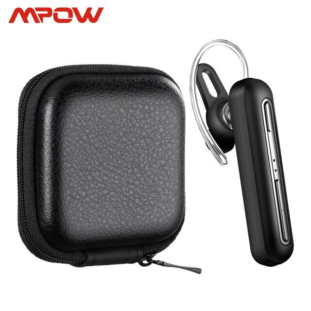 سماعات أذن لاسلكية Mpow EM17 سماعة أذن مزودة بتقنية البلوتوث مع خاصية إلغاء الضوضاء بميكروفون مزدوج مع تصميم تجاري