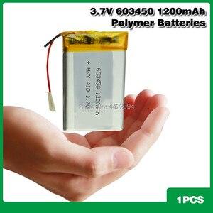 3.7V 1200mAh 603450 Lithium Po