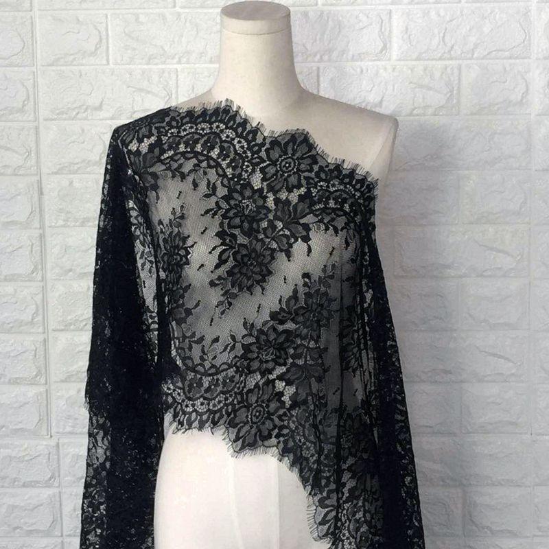 3 metre uzun saçak siyah ve beyaz kirpik dantel Trim aksesuarları kumaş DIY etek dikiş iç çamaşırı dikiş dekoratif