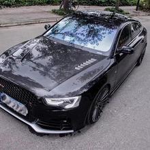 A5 S5 RS5 Реальные углеродного волокна передний бампер автомобиля крышка капота двигателя чехол для Audi A5 S5 RS5 2012 2013