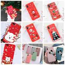 Phone Case For iphone 6 6s 7 8 5 Matte Silicon Soft Cute Love Heart Couple Christmas Deer Cover plus x xs max xr