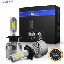 JIAMEN LED H4 H7 H11 H9 H8 9006/HB4 H1 H3 9005/HB3 9004 9012 Auto Car Headlight Bulbs 36Wx2 8000LM 6500K lamp