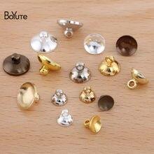 Boyute (100 peças/lote) 6mm 8mm 10mm metal latão talão tampas fim rolha fecho diy artesanal jóias que fazem materiais