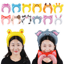 5pcs Mini Animal Headband Aluminum Balloons Children Gifts Baby Birthday Party Supplies Head Wear Balloons Kids Hair Clasp(China)