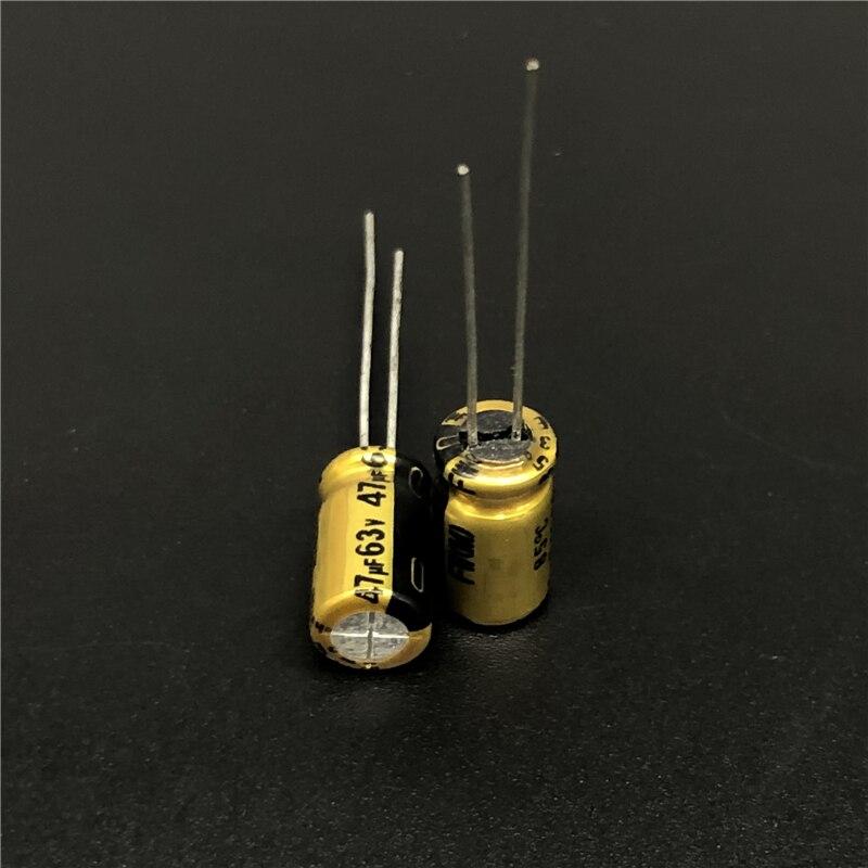 10pcs 47uF 63V NICHICON FW Series 6.3x11mm 63V47uF Audio Aluminum Electrolytic Capacitor