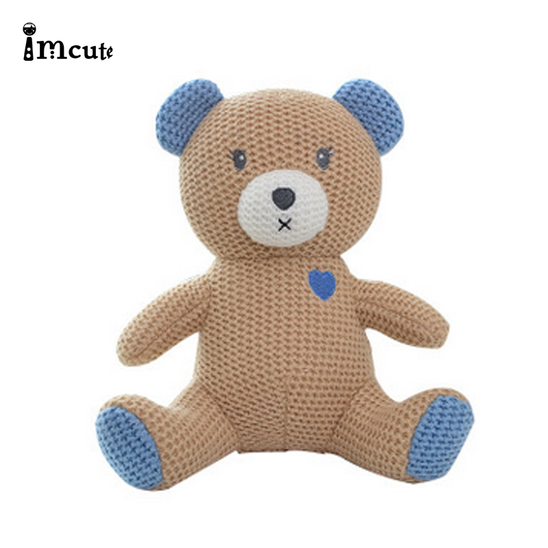 Imcute 2020 Baby Gift Newborn Baby Girls Boys Photography Prop Photo Crochet Knit Toy Cute Little Bear Knitted Animal Doll