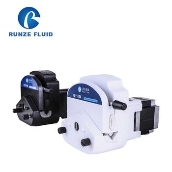 RUNZE YZ15 Flip-top 24V Stepper Peristaltic Pump with Exchangeable Pump Head and PharMed Peristaltic Tube 24v input liquid metering peristaltic pump stepper