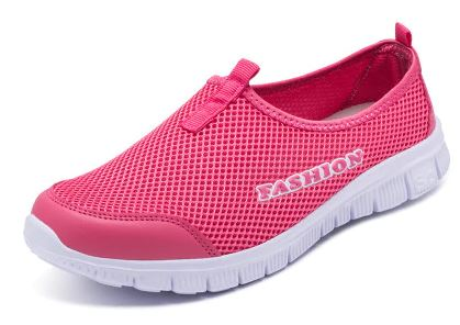 YEELOCA 2020 Women Sneakers Breathable m002 Mesh Light Flat Loafers Casual Shoes  Walking Shoes Plus Size 35-43 ZX001