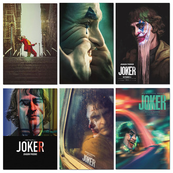 Movie Poster Joker 2019 Silk Posters Wall Art Prints Comics Film Painting Pictures 40x60cm 50x75cm image