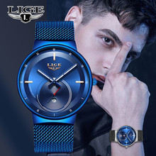 LIGE New Mens Watches Top Brand Luxury F