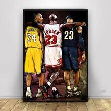 1 шт баскетбольный холст с изображением Коби Брайанта Майкла