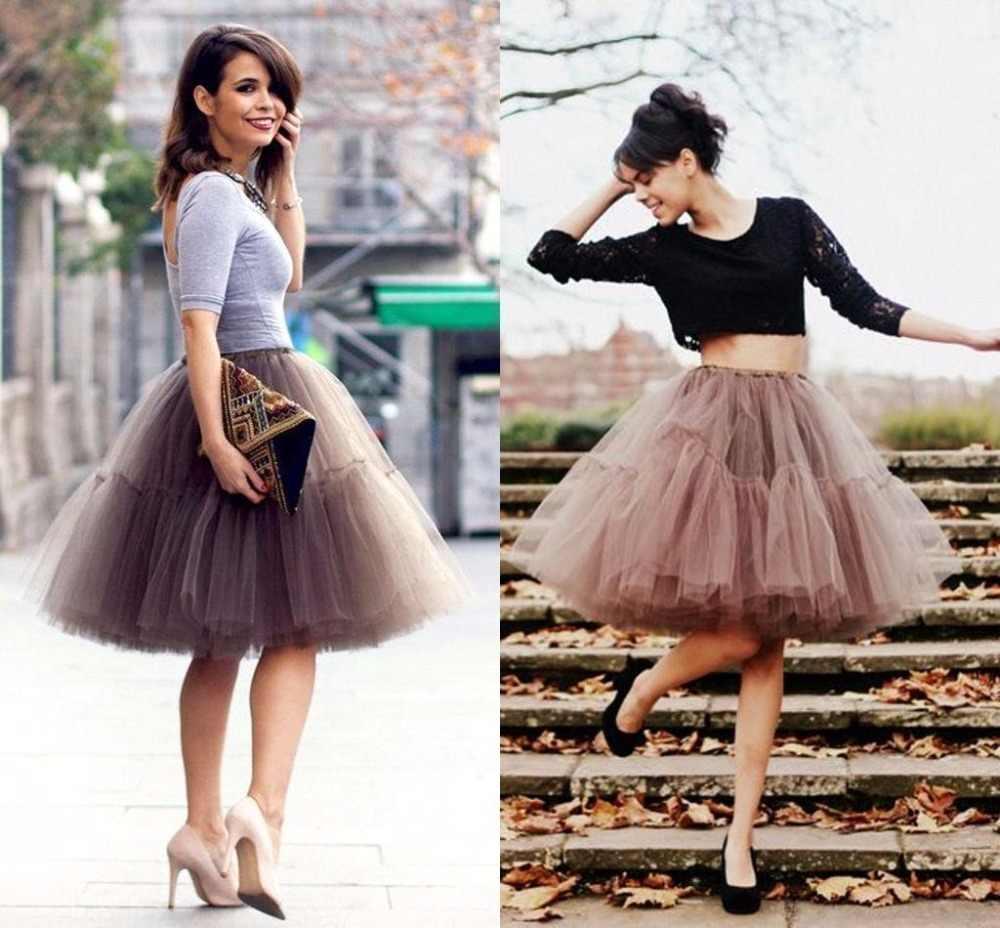 Baru 2018 Petticoat Rok Tulle Wanita Elastis Lapisan Musim Panas Dewasa Tutu Rok Memetiknya Rockabilly